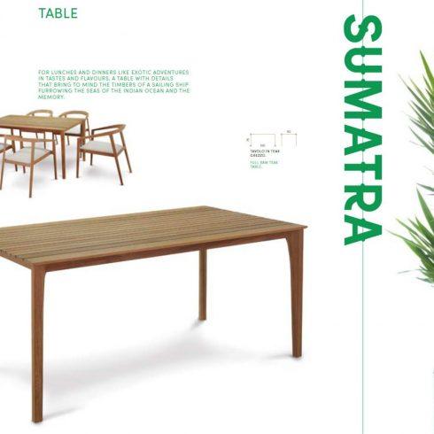 vrtna miza tik Sumatra
